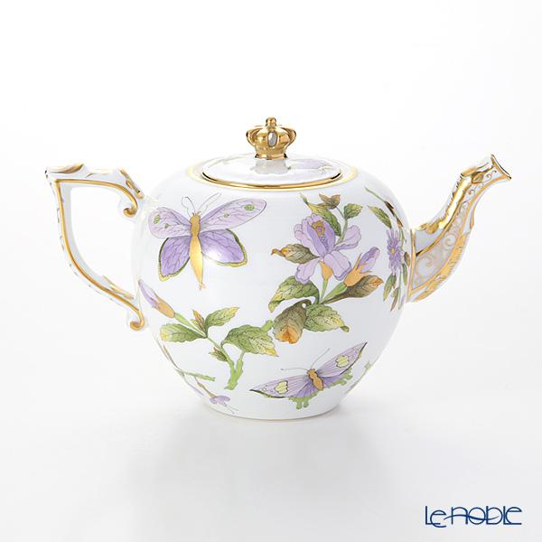 ヘレンド Herend Royal Garden Evict1 00606 0 91 Teapot Crown Green 800cc Le2018 World Limited Production 2 018 Points Chinoiserie Tableware Brand
