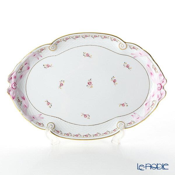 ヘレンド(HEREND) 薔薇の花飾り RGS 00400-0-00 パーティートレイ 38cm【楽ギフ_包装選択】 プレート 皿 食器 おしゃれ ブランド
