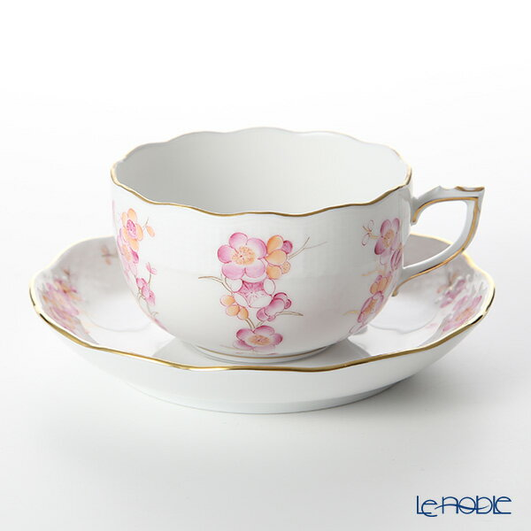 ヘレンド(HEREND) FKT-1 00724-0-00 ティーカップ&ソーサー(ピンク) 200cc【楽ギフ_包装選択】 コーヒーカップ カップアンドソーサー 引き出物 結婚祝い 食器