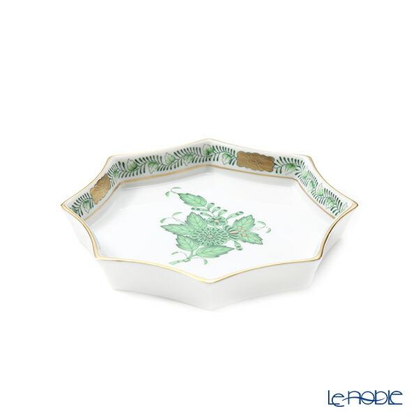 至高 割引 アポニー プレート 皿 お皿 食器 ブランド 結婚祝い 07753-0-00 ヘレンド アポニーグリーン HEREND 内祝い オクタゴナルトレイ11cm