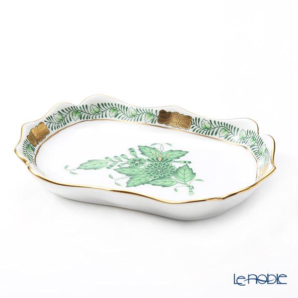 ヘレンド(HEREND) アポニーグリーン 07798-0-00 トレイ 7.5×11cm プレート 皿 お皿 食器 ブランド 結婚祝い 内祝い