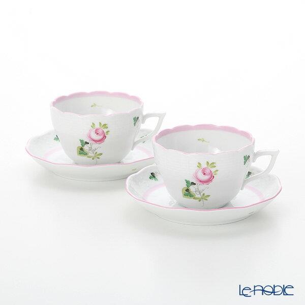 ヘレンド(HEREND) ウィーンのバラ ピンク 00730-0-00/730 ティーカップ&ソーサー(兼用) 200cc ペア おしゃれ かわいい 食器 ブランド 結婚祝い 内祝い