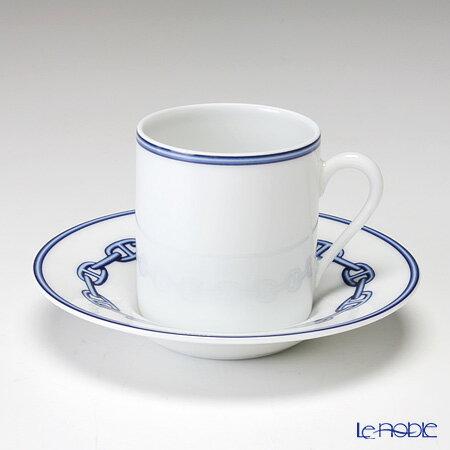 エルメス (HERMES) シェーヌ ダンクル ブルー コーヒーカップ&ソーサー 90ml【楽ギフ_包装選択】【楽ギフ_名入れ】 コーヒ―カップ 食器 おしゃれ ブランド