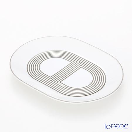 Hermes (HERMES) rally 24 Oval plate mini-15cm white plate dish tableware  brand wedding present family celebration