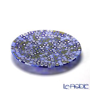 エルコーレモレッティ ミレフィオーリ フラットプレート 13cm ブルー系(212)【楽ギフ_包装選択】