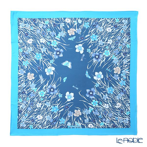 ジムトンプソン シルクスカーフ スクエア PSB80003B メドウフラワーB/スカイブルー/ブルー ジム・トンプソン ギフト フラワー(花柄)