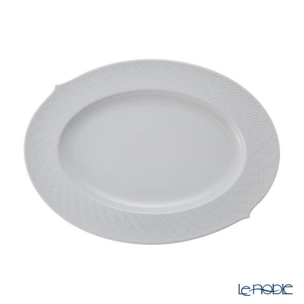 マイセン (Meissen) 波の戯れホワイト 000001/29307 オーバルプラター 35cm【楽ギフ_包装選択】 プレート 皿 引き出物 結婚祝い 食器