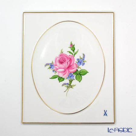 マイセン (Meissen) 陶板 020810/53n31 ピンクのバラ/忘れな草 25×20.5cm【楽ギフ_包装選択】
