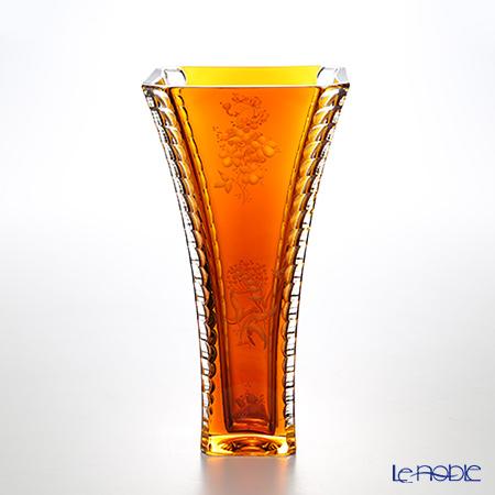 マイセン(Meissen) マイセンクリスタル 色被花瓶(アンバー) 25cm SOM/1492/25AB【楽ギフ_包装選択】 おしゃれ フラワーベース