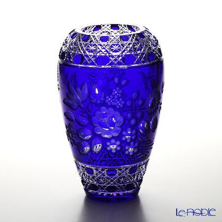 マイセン(Meissen) マイセンクリスタル 花瓶(ブルー) 26cm MFO/1378/26B フラワーベース おしゃれ ギフト
