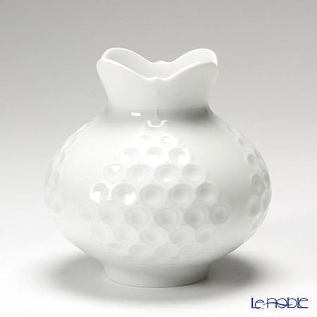 マイセン (Meissen) ホワイトレリーフ 000001/50139 ベース(花瓶) 白 フラワーベース おしゃれ ギフト