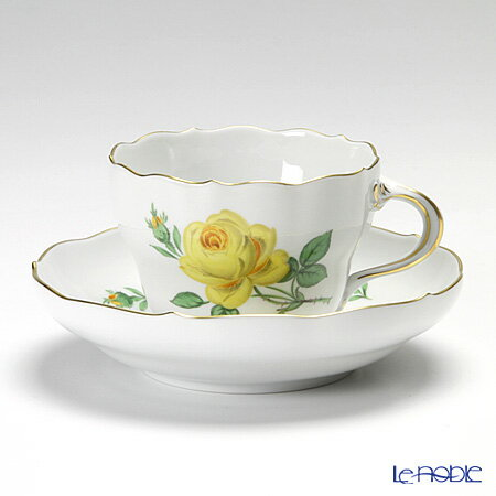 マイセン (Meissen) 黄色のバラ 020610/00582 コーヒーカップ&ソーサー 200cc【楽ギフ_包装選択】 ティーカップ 食器 おしゃれ ブランド