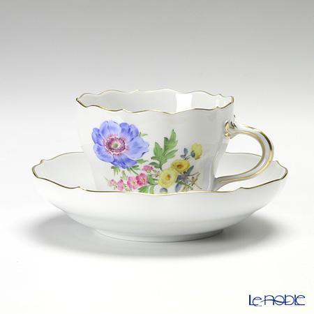 マイセン (Meissen) ベーシックフラワー(三つ花) 060110/00582/01 コーヒーカップ&ソーサー 200cc Motiv No.1 アネモネ コーヒ―カップ おしゃれ かわいい 食器 ブランド 結婚祝い 内祝い