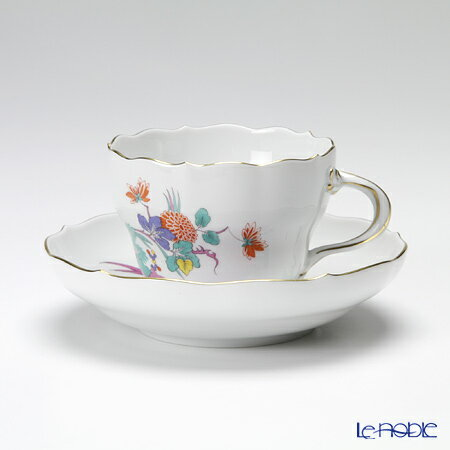 マイセン (Meissen) インドの花と蝶 395110/00582 コーヒーカップ&ソーサー 200cc【楽ギフ_包装選択】 シノワズリ ティーカップ カップアンドソーサー 引き出物 結婚祝い 食器