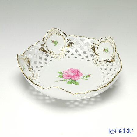 マイセン (Meissen) ピンクのバラ 020192/54880 メッシュ飾り皿 18cm【楽ギフ_包装選択】