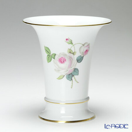 マイセン (Meissen) ホワイトローズ 029510/50035 花瓶 16cm【楽ギフ_包装選択】 フラワーベース おしゃれ ギフト