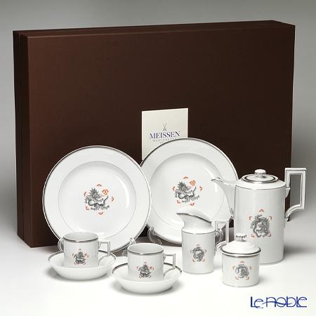 マイセン (Meissen) ドラゴン ブラック(プラチナ縁) 33a090/c5514 コーヒーセット(11ピース) 食器セット お祝い 結婚祝い ブランド 内祝い