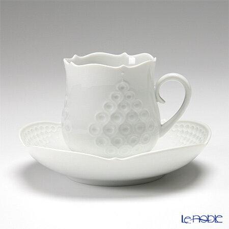 マイセン (Meissen) ホワイトレリーフ 000001/26582 コーヒーカップ&ソーサー 150cc 白 コーヒ―カップ おしゃれ かわいい 食器 ブランド 結婚祝い 内祝い
