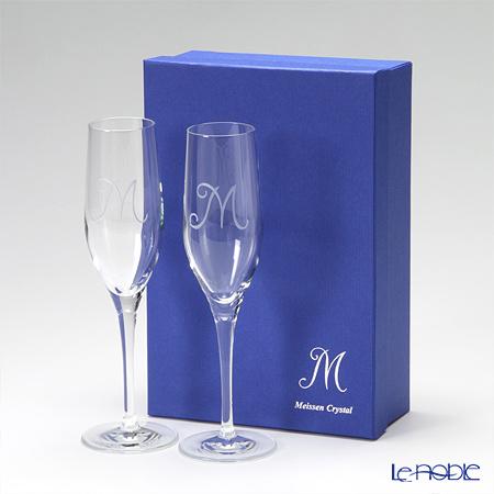 マイセン(Meissen) マイセンクリスタル M 38101 シャンパンフルート 22.1cm ペア グラス シャンパングラス ギフト 食器 ブランド 結婚祝い 内祝い