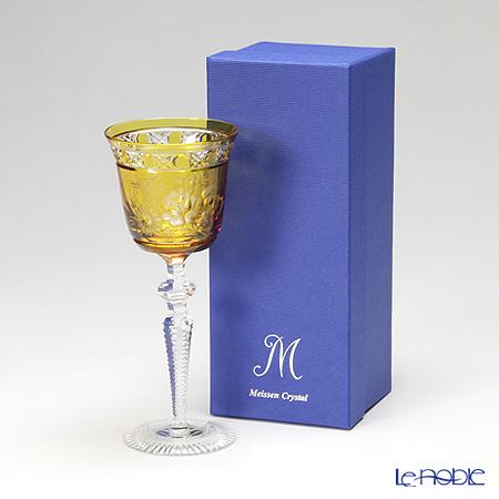 マイセン(Meissen) マイセンクリスタル ロンドンフラワー ワイングラス 20.9cm(アンバー) MFO/3517/2AB【楽ギフ_包装選択】 兼用 ギフト 食器 おしゃれ ブランド