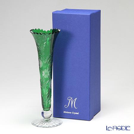 マイセン(Meissen) マイセンクリスタル クローバー 一輪挿し 23cm(グリーン) 1024/23G【楽ギフ_包装選択】 花瓶 おしゃれ フラワーベース