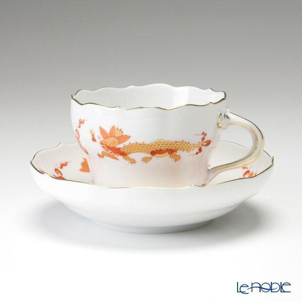 マイセン (Meissen) ドラゴン オレンジ 0320510/00582 コーヒーカップ&ソーサー 200cc【楽ギフ_包装選択】 ティーカップ 食器 おしゃれ ブランド