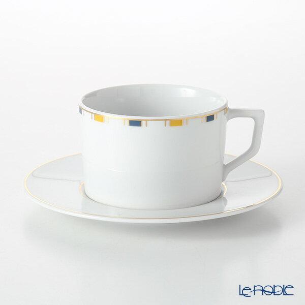 マイセン (Meissen) ストライプ 79A213-41582 コーヒーカップ&ソーサー 180ml/14.5cm【楽ギフ_包装選択】 ティーカップ カップアンドソーサー 引き出物 結婚祝い 食器
