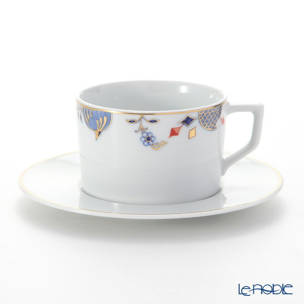 マイセン (Meissen) ノーブルブルー 802190-41582(572/98A077-41562) コーヒーカップ&ソーサー 180ml (オニオンエッジ) コーヒ―カップ おしゃれ かわいい 食器 ブランド 結婚祝い 内祝い