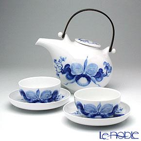 マイセン (Meissen) ブルーオーキッド 2人用 日本茶セット【楽ギフ_包装選択】 食器セット ギフトセット 結婚祝い 引き出物