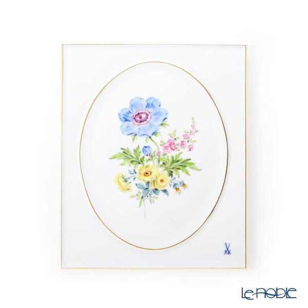 【ポイント10倍】マイセン (Meissen) ベーシックフラワー 三つ花(アネモネ) 陶板 25×20cm 060110/53n31/1