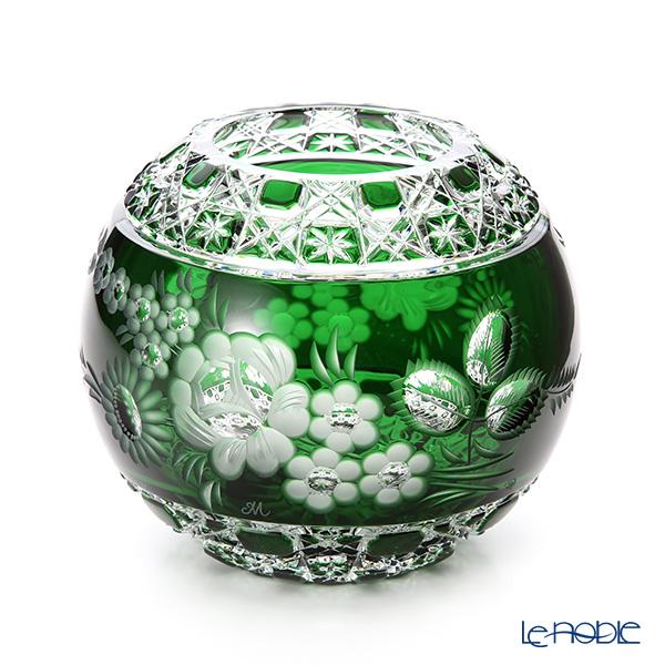 マイセン(Meissen) マイセンクリスタル MFO/140/16G 花瓶ラウンド(グリーン) 16cm フラワーベース おしゃれ ギフト