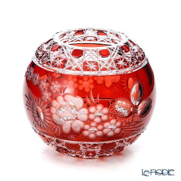 マイセン(Meissen) マイセンクリスタル MFO/140/16R 花瓶ラウンド(レッド) 16cm フラワーベース おしゃれ ギフト