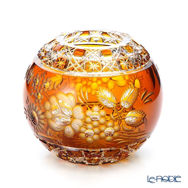 マイセン(Meissen) マイセンクリスタル MFO/140/16AB 花瓶ラウンド(アンバー) 16cm フラワーベース おしゃれ ギフト