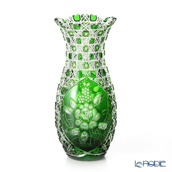 マイセン(Meissen) マイセンクリスタル LF/1127/29G 花瓶(グリーン) 29cm フラワーベース おしゃれ ギフト