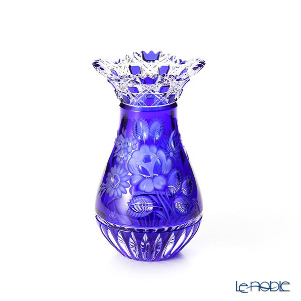 マイセン(Meissen) マイセンクリスタル MFO1420/16B 花瓶(ブルー) 16cm フラワーベース おしゃれ ギフト