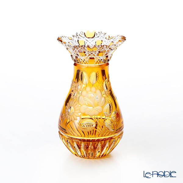 マイセン(Meissen) マイセンクリスタル MFO1420/16AB 花瓶(アンバー) 16cm フラワーベース おしゃれ ギフト