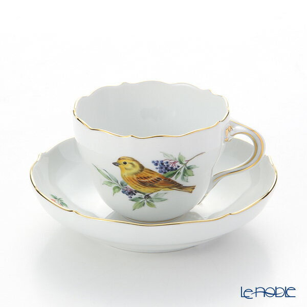 マイセン (Meissen) 鳥 260210/00582/Yellow Hammer コーヒーカップ&ソーサー(200cc) キアオジ【楽ギフ_包装選択】 ティーカップ 食器 おしゃれ ブランド