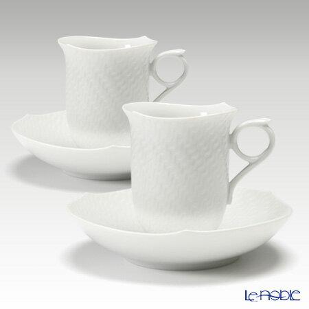 マイセン (Meissen) 波の戯れホワイト 000001/29582 コーヒーカップ&ソーサー 180cc ペア 白 コーヒ―カップ おしゃれ かわいい 食器 ブランド 結婚祝い 内祝い