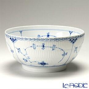 ロイヤルコペンハーゲン (Royal Copenhagen) ブルー フルーテッド ハーフレース サラダボウル(L) 10.5×24.5cm 1102579/1017220 北欧 ブルーフルーテッド 食器 ブランド 結婚祝い 内祝い