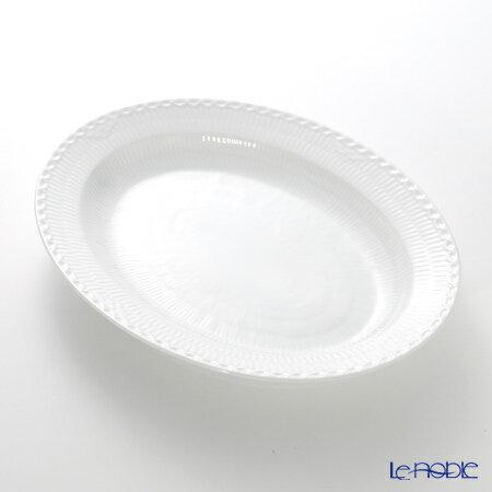 ロイヤルコペンハーゲン (Royal Copenhagen) ホワイト フルーテッド ハーフレース ディッシュ(楕円) 36.5×29cm 1128375【楽ギフ_包装選択】 北欧 ホワイトフルーテッド プレート 皿 食器 おしゃれ ブランド