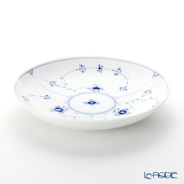 ロイヤルコペンハーゲン (Royal Copenhagen) ブルー フルーテッド プレイン ディーププレート 25×H4cm 1101731 北欧 ブルーフルーテッド 深皿 カレー パスタ お皿 食器 ブランド 結婚祝い 内祝い
