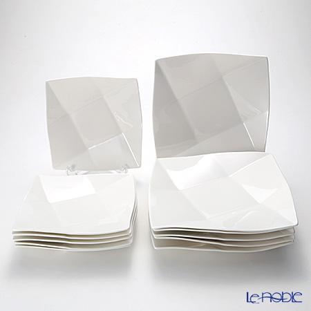 プリモビアンコ 白の器 スクエア ディーププレート 12枚セット【楽ギフ_包装選択】 白い食器 食器セット ギフトセット 結婚祝い 引き出物