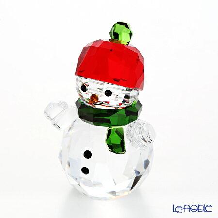 スワロフスキー スノーマンと赤い帽子 SWV5-288-205 17AW【楽ギフ_包装選択】 クリスマス フィギュリン 置物 オブジェ インテリア