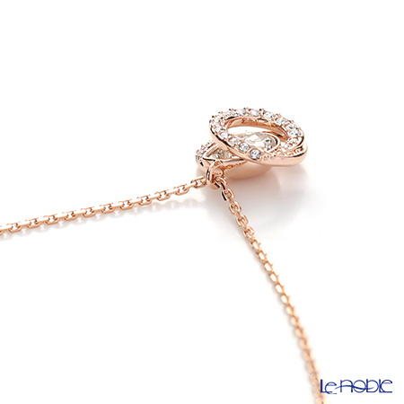 b0fff4543 The wonderful design which I put pendant ♪ Rose gold-collar coating  characterized by the silhouette of the organic curve that wrapped up the  crystal of the ...