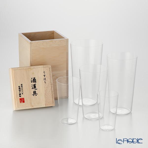 松徳硝子 人気ブランド ギフト 酒器 うすはり 祝日 うすはりグラス 食器 木箱入 結婚祝い 内祝い 酒道具 ブランド