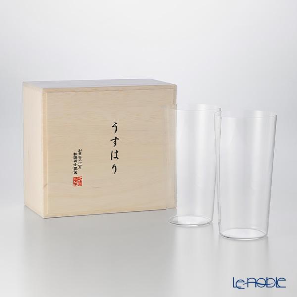 最新アイテム 松徳硝子 ギフト 酒器 人気の製品 うすはり うすはりグラス タンブラー 食器 ブランド あす楽 結婚祝い LL 木箱入 内祝い ペア
