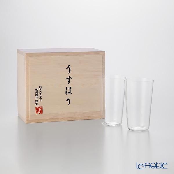 松徳硝子 ギフト 酒器 ハイクオリティ うすはり うすはりグラス タンブラー 食器 内祝い 結婚祝い あす楽 木箱入 ペア SS ブランド タイムセール