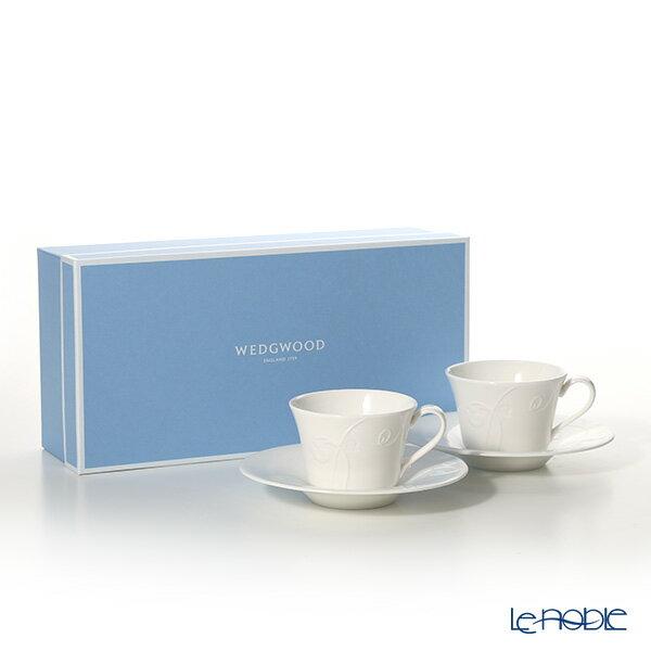 ウェッジウッド (Wedgwood) ネイチャー ティーカップ&ソーサー ペア【楽ギフ_包装選択】 ウエッジウッド 結婚祝い お祝い 白 食器 おしゃれ ブランド