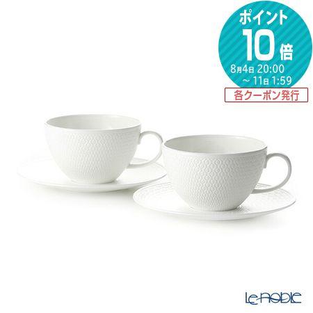ウェッジウッド (Wedgwood) ジオ ティーカップ&ソーサー 340cc ペア ウエッジウッド 結婚祝い 内祝い お祝い おしゃれ かわいい 食器 ブランド