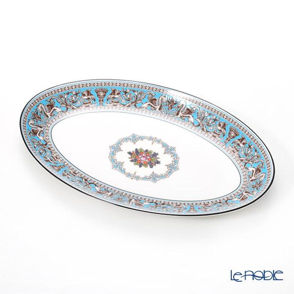 ウェッジウッド (Wedgwood) フロレンティーン ターコイズ オーバルディッシュ 26cm ウエッジウッド 結婚祝い 内祝い お祝い プレート 皿 お皿 食器 ブランド